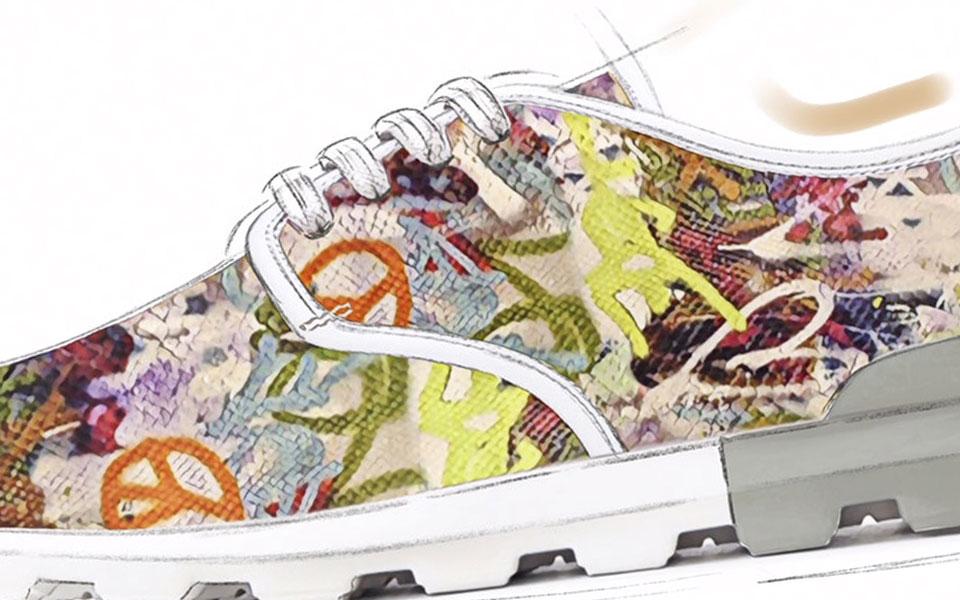 Urban Scrawl Feature - Man Triesse Footwear Design