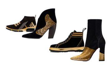 Shoe Trends 2020.Footwear Trend For Women Gold Black Fall Winter 2019 2020