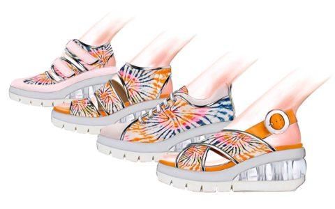 Women shoes trend ss20 rainbow sherbet