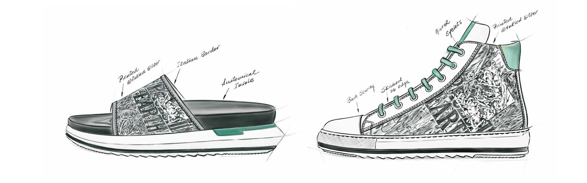 Sketch - Footwear Trends Men SS20 GrunGalactict