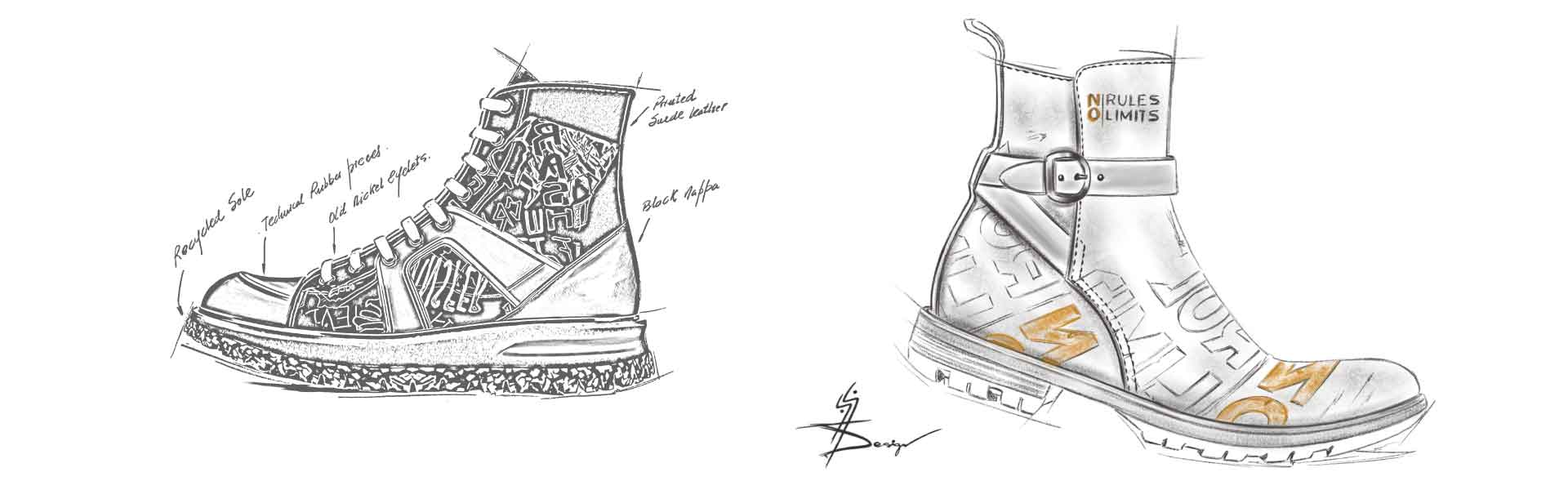 Footwear Trend FW20 Urban Prints - Sketches