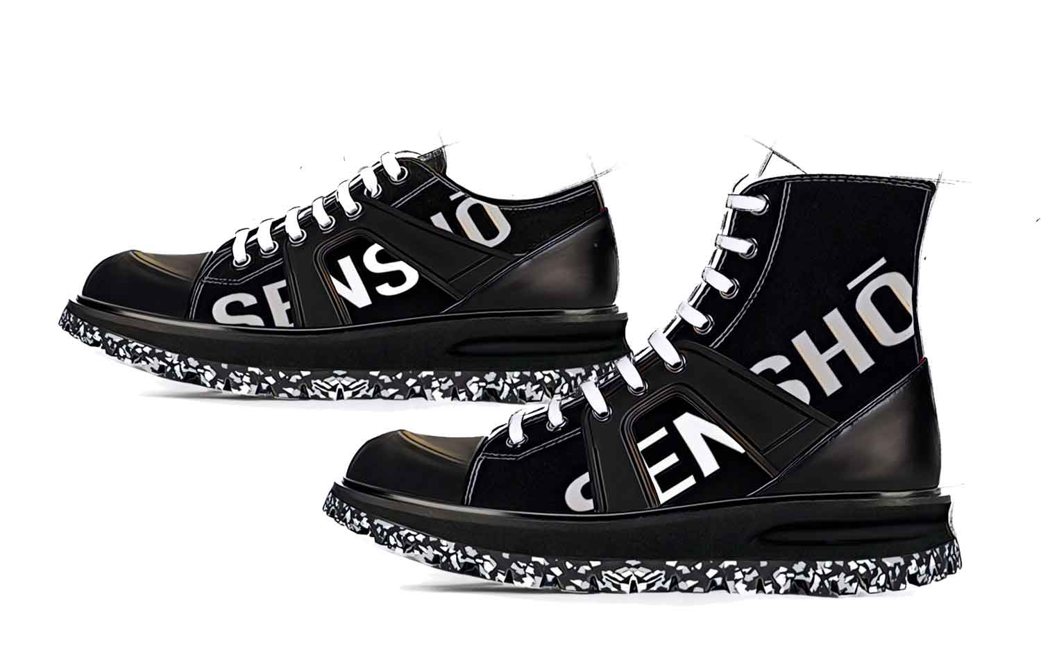 Men's Shoes Collection Trend Balck & White Text FW20 - Footwear Design