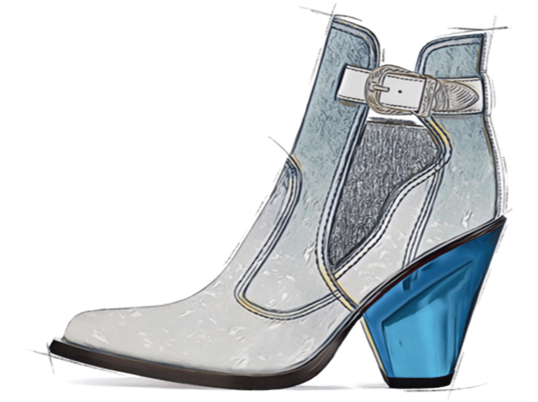 Elastic ankle boot - In advance SS21 Footwear Trend - Aqua Zen - GlobalTriesse Footwear Design Studio