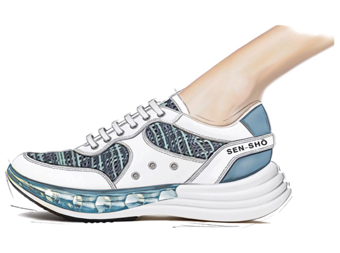 Sneaker EVA - In advance SS21 Footwear Trend - Aqua Zen - GlobalTriesse Footwear Design Studio