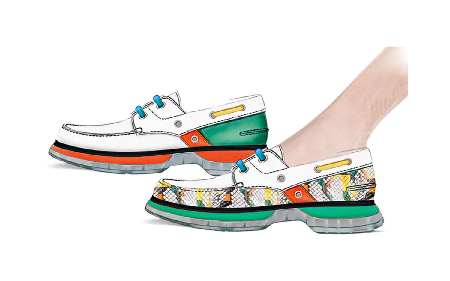 chromatic-nautic-men-shoes-collection-colorful-snake-ss21