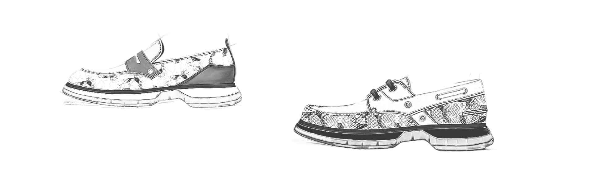 Footwear Trend SS21 - Colorful Snake - Sketch