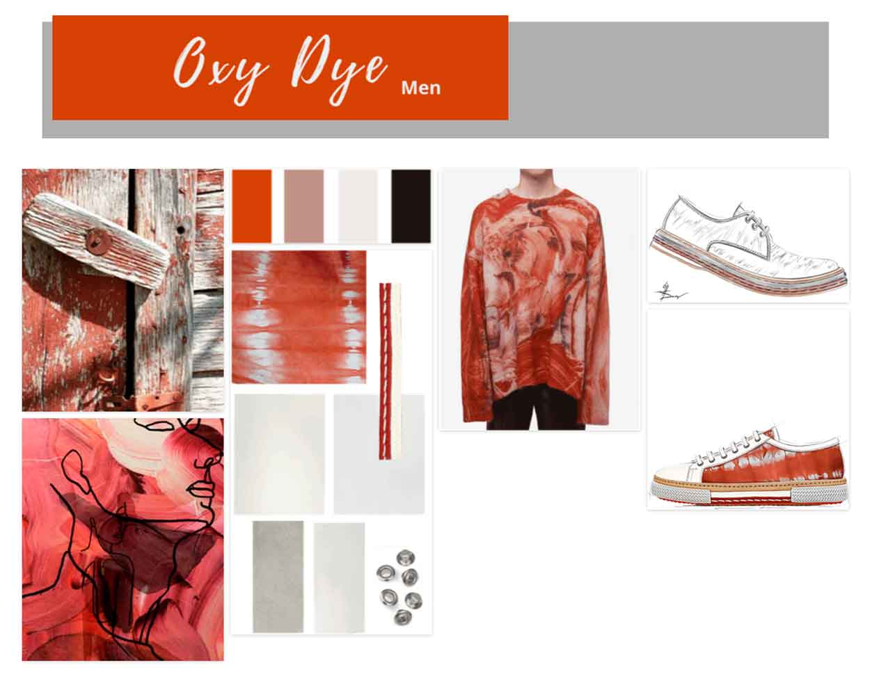 In Advance - Men`'s Footwear Trend SS21 - Oxy Dye - Moodboard
