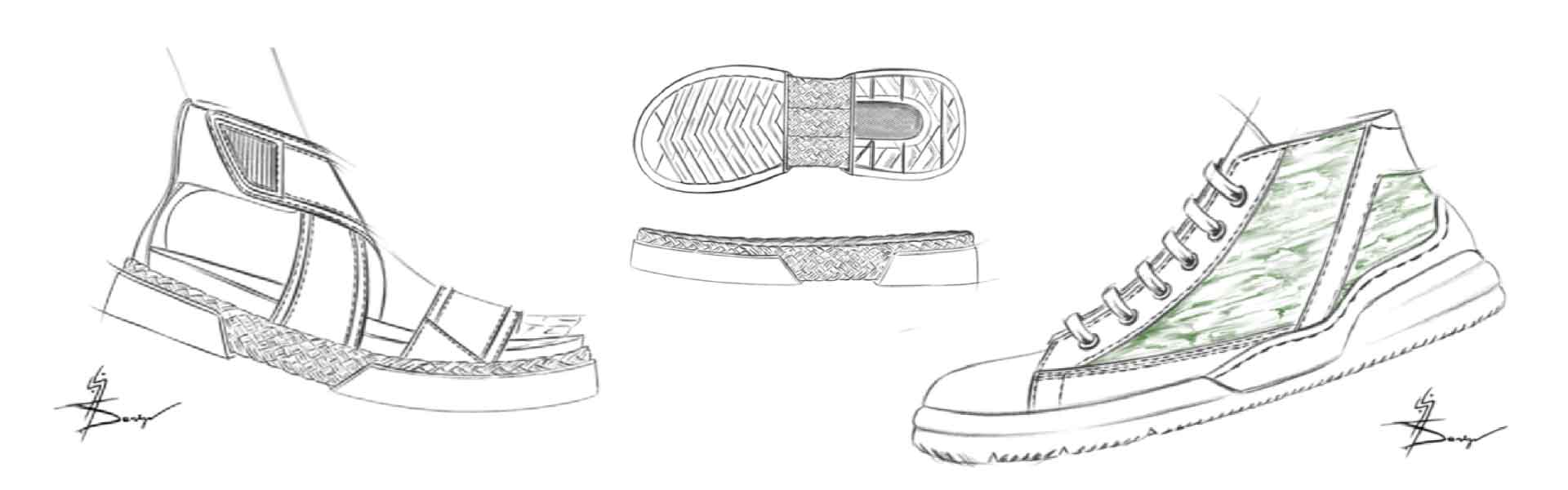 Footwear Trend SS21 Green Dye - Sketches