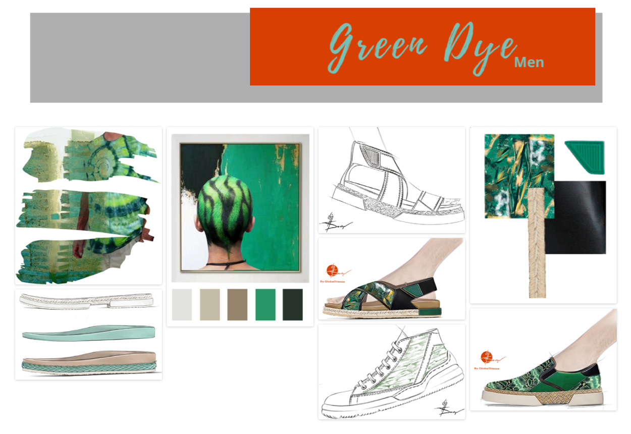 In advance Footwear Men SS21 - Green Dye - Moodboard