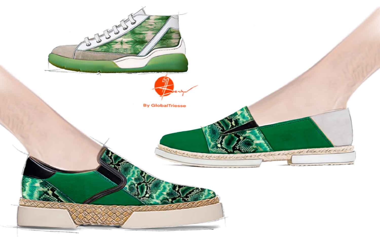 Men Sneakers Collection SS21 Green Dye